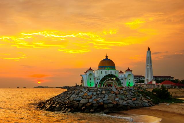 マラッカ海峡の夕日